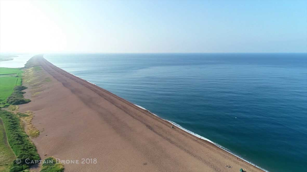 Chesil Beach, looking east