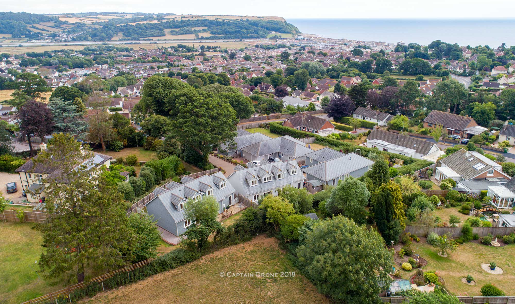 Seaton Devon aerial property photography by Captain Drone
