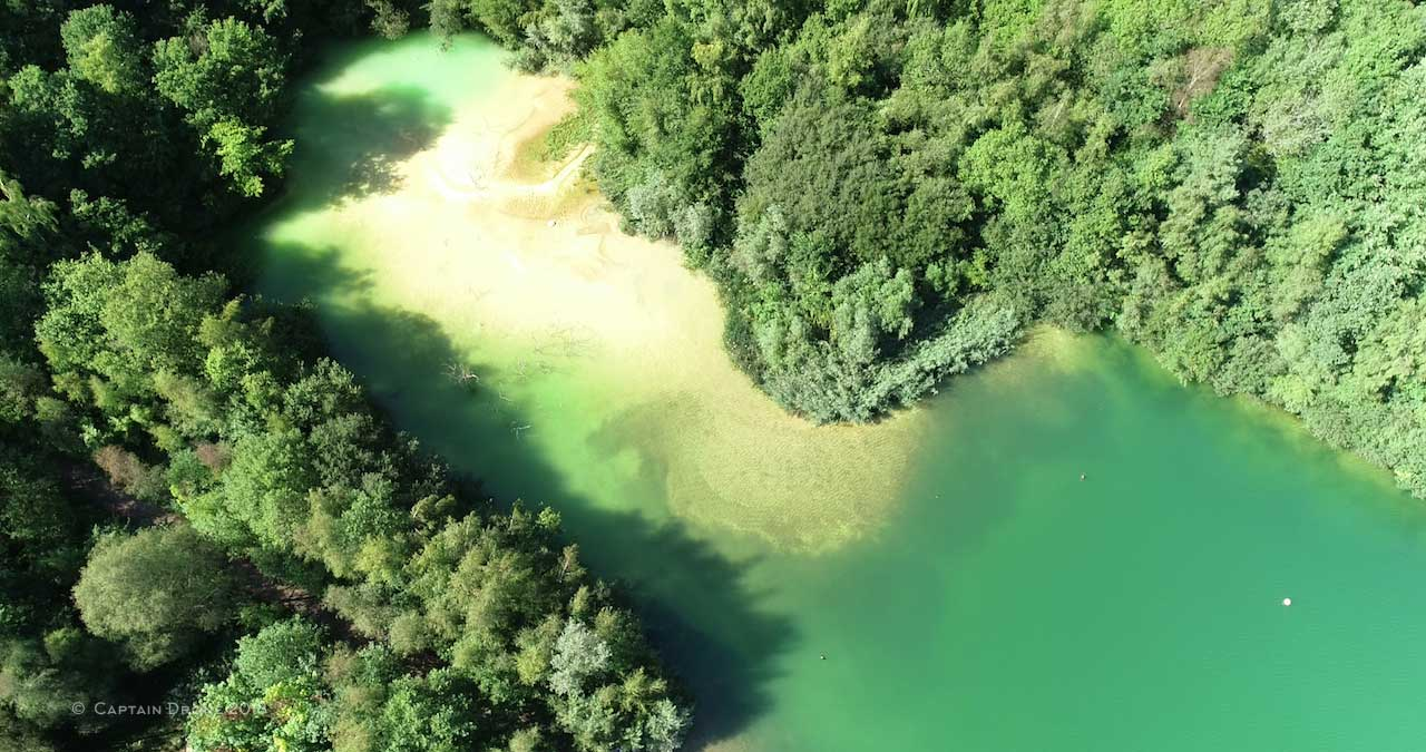 Shot Of Divers Cove From The Air, Captured During A Feature-length Film Recording Session
