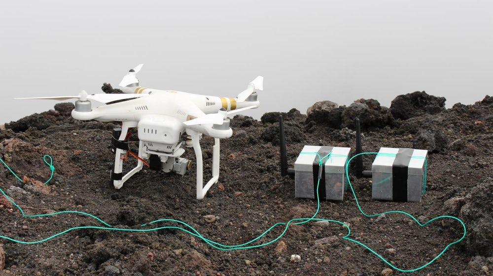 Sensor-laden Devices Dropped Into Volcanoes By Drone