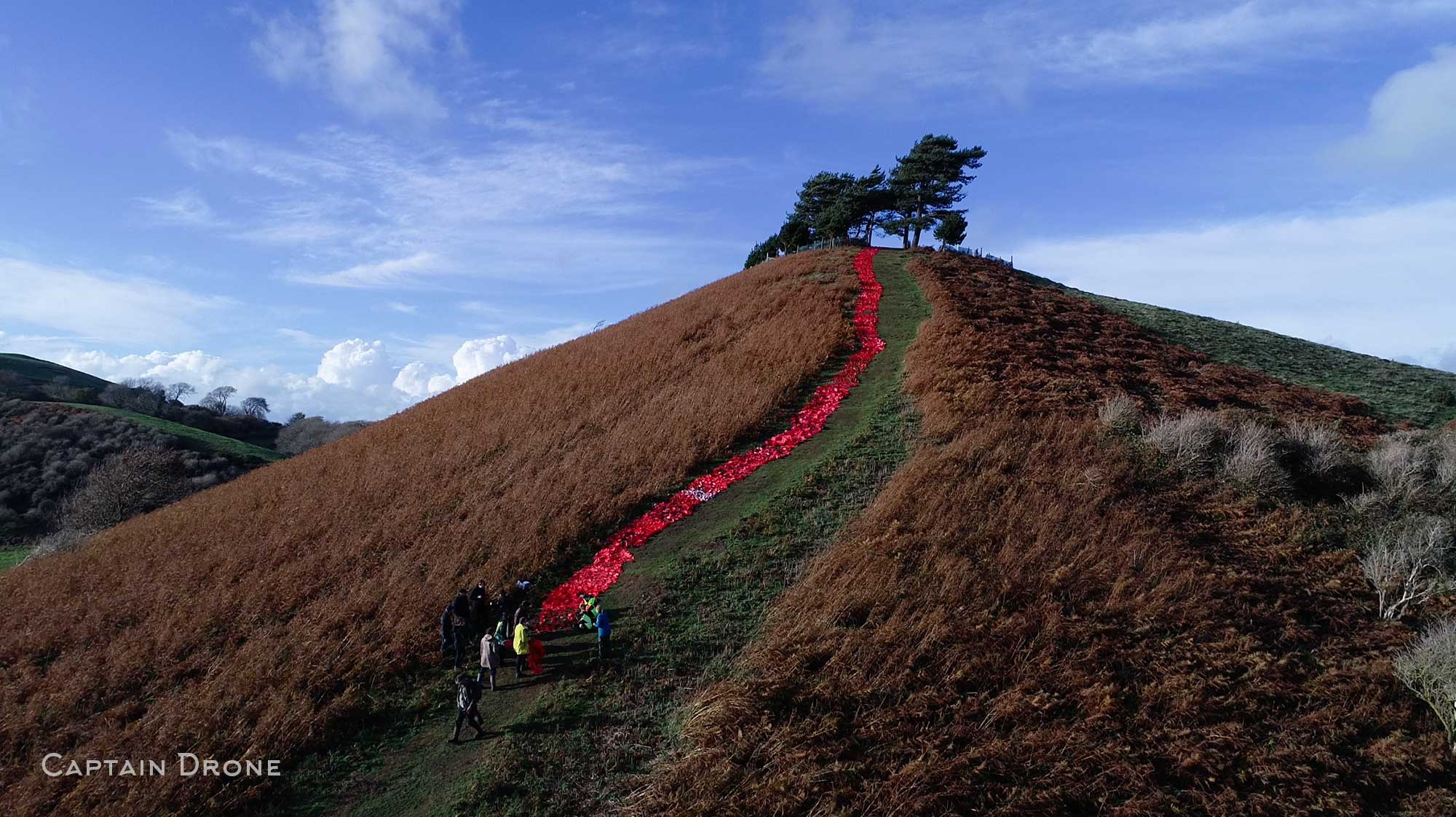 The River Of Poppies Event On Colmer's Hill